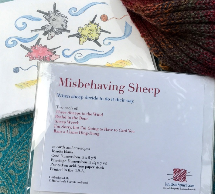 Sheep Greeting Cards For Everyday By Knitbaahpurl